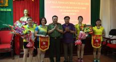 Hội phụ nữ Công an tỉnh tổ chức giao lưu bóng chuyền hơi nhân dịp kỷ niệm 127 năm ngày sinh Chủ tịch Hồ Chí Minh