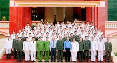 Lãnh đạo BCA, thăm và làm việc tại Bắc Giang